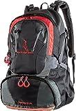 MOUNTAINBOCK Sac à dos de randonnée 40 litres en noir rouge | Nylon étanche avec housse supplémentaire de protection contre la pluie | Sac à dos unisexe | Parfait pour le camping & le trekking | Sac à dos de journée sport & outdoor | édition 2018