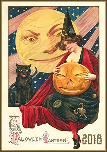 Kalender 2018 [12 seiten 20x30cm] Halloween Pinup Witches Cute Madchen Vintage Plakat Postcards [Calendar] (Pinup Halloween)