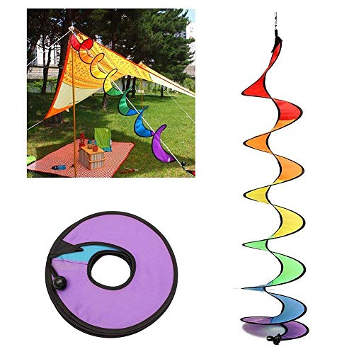 CHENLIGHT Campingzelt, faltbar, Regenbogenspirale, Banner, klassisches Spielzeug, Windspiel