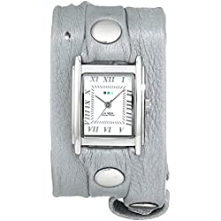 La Mer Collections Damen LMMTW1003 Lite Gray Shimmer Silver Triple Wrap Armbanduhr