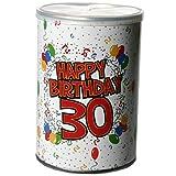Geschenk-Dose Happy Birthday 30 Geschenkidee bunt 11x7,5cm Einheitsgröße