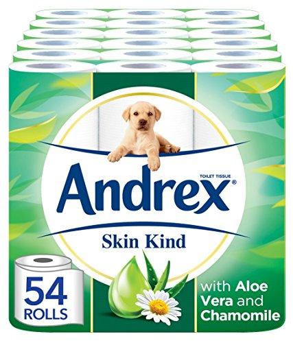 Andrex Skin Kind Toilet Tissue, with Aloe Vera, 54 Rolls