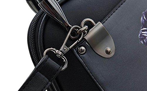 Fashion Printing Handtaschen Persönlichkeit Painted Schultertasche Messenger Bag Frauen Taschen,B B