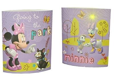 kleine Tischlampe LED Disney Minnie Mouse - 16 cm hoch Dekolicht Lampe Stehlampe Tischleuchte Kinder Kinderzimmer - Mickey Maus von Kinder-Land bei Lampenhans.de