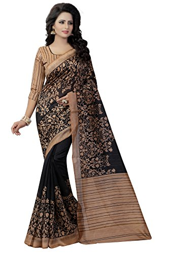 Saree(Leriya Fashion Saree For Women Party Wear Half Multi Colour Printed Sarees Offer Designer Below 500 Rupees Latest Design Under 300 Combo Art Silk New Collection 2017 In Latest With Designer Blouse Beautiful For Women Party Wear Sadi Offer Sarees Collection Kanchipuram Bollywood Bhagalpuri Embroidered Free Size Georgette Sari Mirror Work Marriage Wear Replica Sarees Wedding Casual Design With Blouse Material  available at amazon for Rs.419