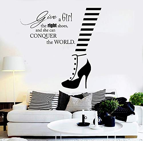 yaoxingfu Wall Stickrs Bedroom Romantic Vinyl Wall Decal Fashion Quote Shoe Shop Style Woman Sticker Adesivo De Parede Wall Decals L  42X43cm (Betty Halloween Boop)
