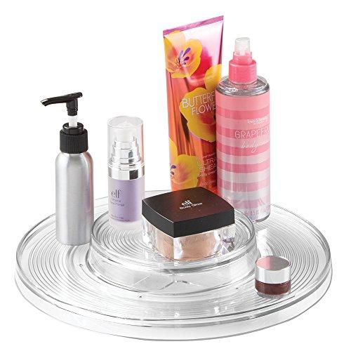 mDesign Organizer cosmetici – pratico contenitore prodotti cosmetica utilizzato come piatto girevole per smalti, talco etc. – portatrucchi trasparente
