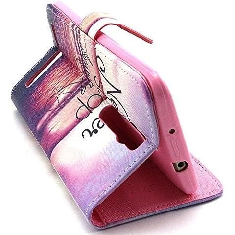 Asus Zenfone 5Cover, Serie Girl ELECDAY Smart Cover a portafoglio, in pelle sintetica ibrida con aletta, a portafoglio con funzione di supporto, con ID/contanti/Carte di Credito