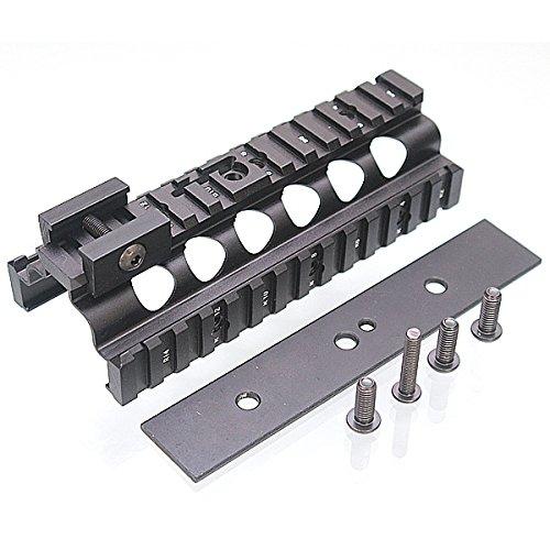 Tokyo Arms Low Rail Set aus Metall für Classic Army, A&K, G&P M249 Softair AEG (Schwarz) (Airsoft M249)