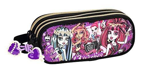 Safta Monster High – Caja de Lápices; 21cm X 8,5cm X 7 cm; Negro, Púrpura (811366635)