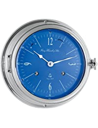 glasen Reloj Reloj Barco Cromado glasen mecanismo de Schlagwerk de Muelle Ascensor Esfera Azul HERMLE 35068–000132