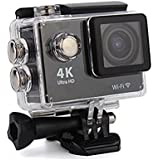 4K WIFI Waterproof 30M Sports Action Camera Ultra HD 16 MP 2 Inch LCD Display HDMI Out 170 Degree Wide Angle Camera