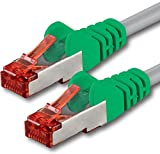 1aTTack CAT6 2x RJ45 Stecker Crossover SSTP PIMF Netzwerk Patch-Kabel 5m