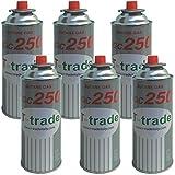 Bombolette Gas Butano Multipack 6 pezzi 250 Grammi Fornelli Campeggio Casa