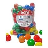 300 Stück 6cm Bälle für Kinder Bällebad Babybälle Plastikbälle ohne...