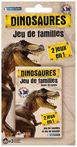 France Cartes 404541-Juego de Cartas de Las familias, Blister-Juego de Dinosaurios