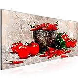 Bilder Küche - Gemüse Wandbild Vlies - Leinwand Bild XXL Format Wandbilder Wohnzimmer Wohnung Deko Kunstdrucke Rot 1 Teilig -100% MADE IN GERMANY - Fertig zum Aufhängen 005812c