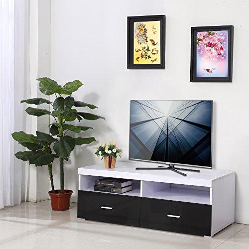 mueble-tv-soporte-tv-115x55x42cm-2-cajon-armario-gabinete-estante-negro-y-blanco