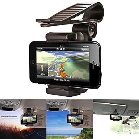 Voiture Rétroviseur support support, Transer® Rétroviseur de voiture support Cradle pour téléphone portable GPS pour téléphone de voiture Supports de fixation
