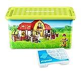 Playmobil 064663 - Scatola porta oggetti e scatola con scomparti, motivo: fattoria