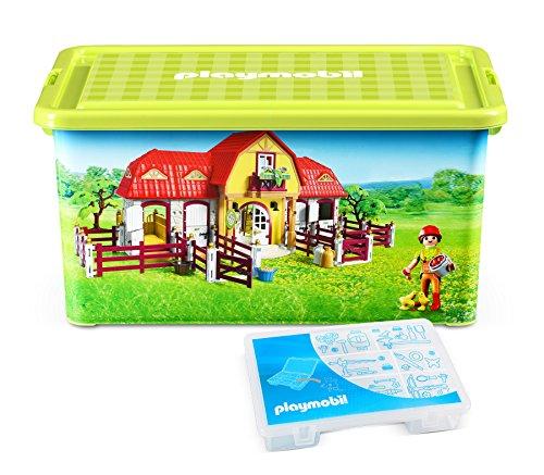 Playmobil - 064663 - Grande Boîte de Rangement 23 L + Boîte compartimentée - Ferme