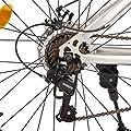 Ultrasport Alu Mountainbike 26 Zoll für Mädchen, Mädchenfahrrad, Trekkingrad, Alurad, 21-Gang Shimano-Kettenschaltung, mit Alu-Rahmen, Federgabel, Scheibenbremsen vorne und hinten, inkl. Trinkflasche