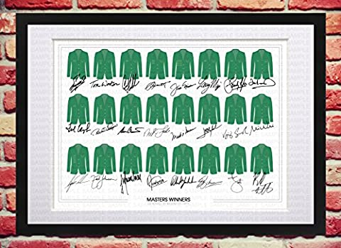 FRAMED & MOUNTED THE MASTERS GOLF LEGENDS SIGNED AUTOGRAPH WITH