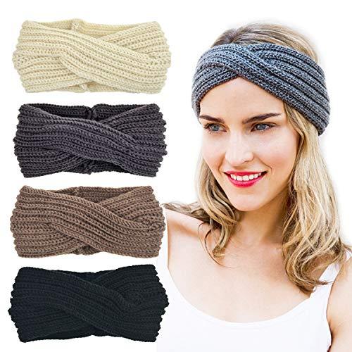 DRESHOW Häkeln Sie Turban Stirnband mit warmen sperrigen gehäkelten -