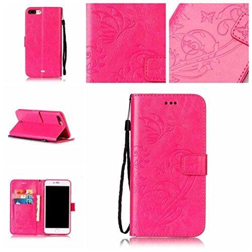 Coloré Motif PU Cuir portefeuille Housse Etui pour iPhone 7 Plus (5,5 pouces) Case Coque Protection Flip Cover avec carte de crédit Slots (Y-G#) Y-D#