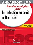 Anna droit 2012.Introduction au droit et droit civil,13ème édition