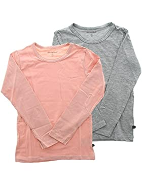 MINYMO Mädchen T-Shirt Basic 35 -T-Shirt LS (2-Pack)