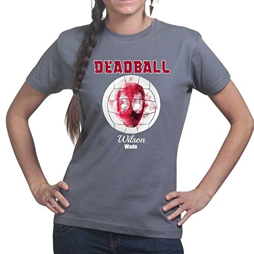 Dead Ball Castaway Mr. Wilson Ball Funny Ladies T shirt (Tee, - Cast Away Wilson Kostüm