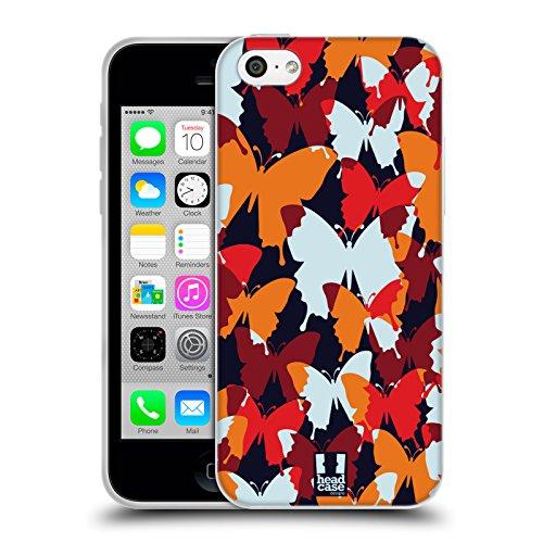 Head Case Designs Pattern Margherite Strisce Floreali Fashion Cover Morbida In Gel Per Apple iPhone 7 Plus / 8 Plus Farfalla