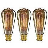 ledsone Vintage Stil Eichhörnchen Käfig Lampe Industrie-Edison bulbs-st 64B22