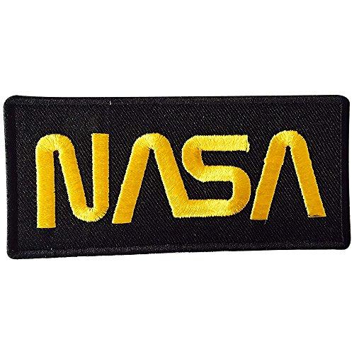 REAL EMPIRE Empire NASA, Schwarz/Gold, gestickt, zum Aufnähen, Aufnäher, Motiv: Astronaut, Kostüm-T-Shirt, Jacke,
