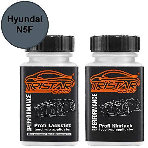 Preisvergleich Produktbild Autolack Lackstift Set Hyundai N5F Stardust Metallic Basislack Klarlack je 50ml