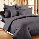 "Trance Single Duvet Cover with 1 pillow cover (Dark Grey) - 60"" X 92"""