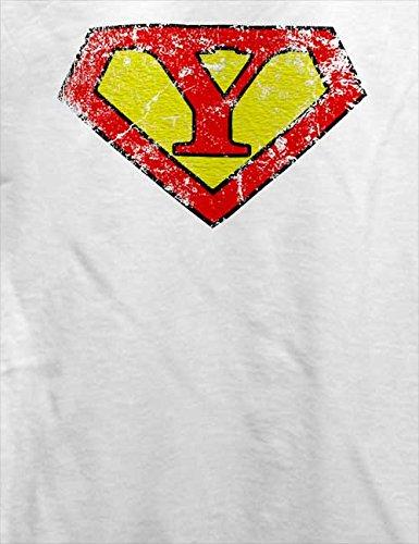 Y Buchstabe Logo Vintage T-Shirt Weiß