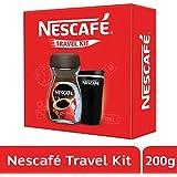 NESCAFÉ Travel Kit (Black) - NESCAFÉ Classic Coffee, 200g with Travel Mug (Limited Edition)