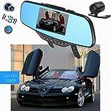 Audew Auto Kamera 4.3 Zoll HD 1080P HD Rückspiegel Monitor mit Bewegungserkennung und Rückfahrkamera