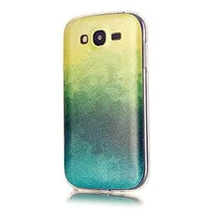 KSHOP Shell Case Cover per Samsung Galaxy i9060 Scintillante Cellulare Accessorio Stampa Copertura Cassa Ultra Sottile TPU Silicone Case Shock-Absorption Protezione Conchiglia - Giallo Verde