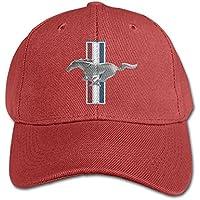 hittings Senben Ford Mustang Kids Boys Girls Adjustable Snapback Hip Hop Baseball Cap Red