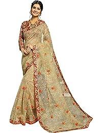 Fabura Women's Cotton Saree With Blouse Piece (F-47463, Green, Free Size)