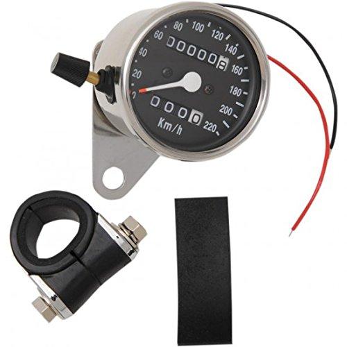 Drag specialties cromo Mini Mechanical Speedometer with tripmete 22100331