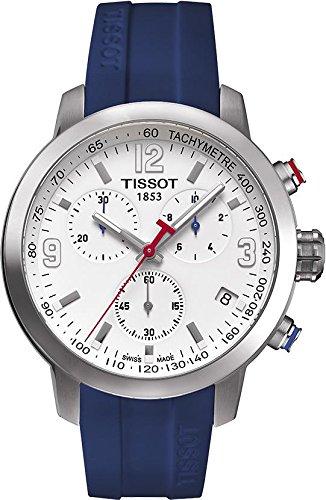 Tissot Herren-Armbanduhr 42mm Armband Kautschuk Blau Quarz T0554171701702