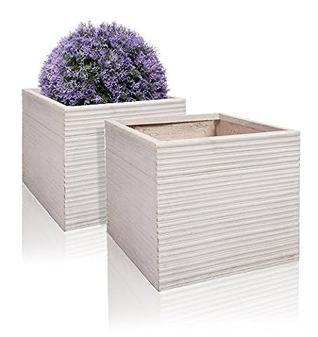 Neus Fibrecotta Cube Planter W30cm - Set of