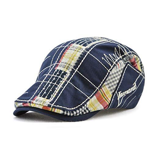 OLIS,Flache Kappe Herren Damen Schiebermütze Schirmmütze Golfer Newsboy Ivy Gatsby ()