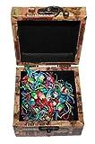 AAF Nommel®, 20 Mini Glückspüppchen in stylischer Holzbox, bunt gemischt, Nr. 07-01