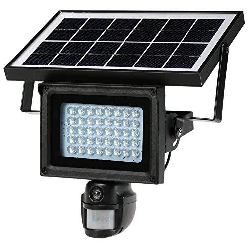 HYLH wasserdichte solarbetriebene Outdoor-Sicherheitskamera mit 40 LED und Nachtsicht-PIR-Sensor