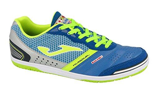 Joma , Chaussures pour homme spécial foot en salle Royal (Azzurro/Verde Fluo)